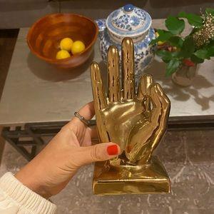 Gold Hand Sculpture